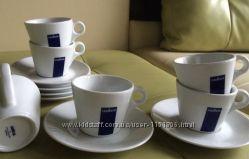 Фирменный керамический чайно-кофейный сервиз набор 612 Lavazzaсалфетки в по