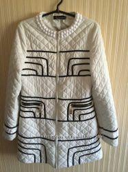 Демисезонное женское стильное модное стёганное пальто 42-44р