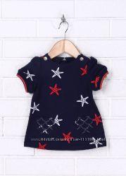 Платье детское трикотажное синее Морские зезды  Италия