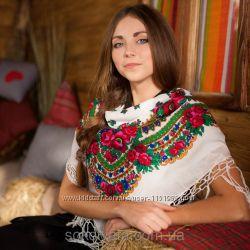 Павлопосадские платки аналог, платки в українському етно - стилі