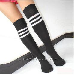 Высокие носки гольфы гетры спортивные с полосками