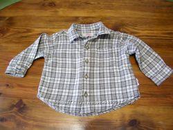 Модная рубашка, для мальчика, размер 74