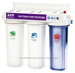Фильтр для очистки воды под мойку Raifil TRIO PU905W3-WF14-EZ