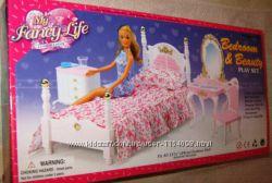 Кукольная мебель Глория 2319 Gloria Спальня с комодом и зеркалом.