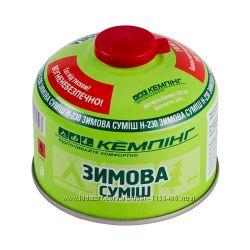 Резьбовой газовый баллон Зимняя смесь Кемпинг Н-230