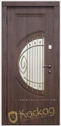Дверь входная металлическая остекленная с ковкой Адамант серии Премиум