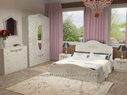 Спальня Лючия мебедь для спальни Кровать Тумбы прикроватные Шкаф. Скидки