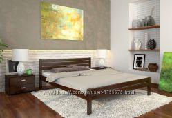Недорогая Кровать из натурального дерева Роял Есть выбор размеров и цвета