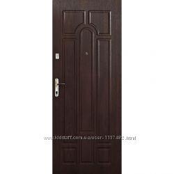 Входные двери эконом Арка темный орех