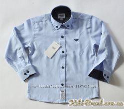 Школьная голубая рубашка Armani для мальчиков от 6 до 14 лет