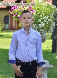 Рубашка Armani голубая на мальчика от 6 до 14лет