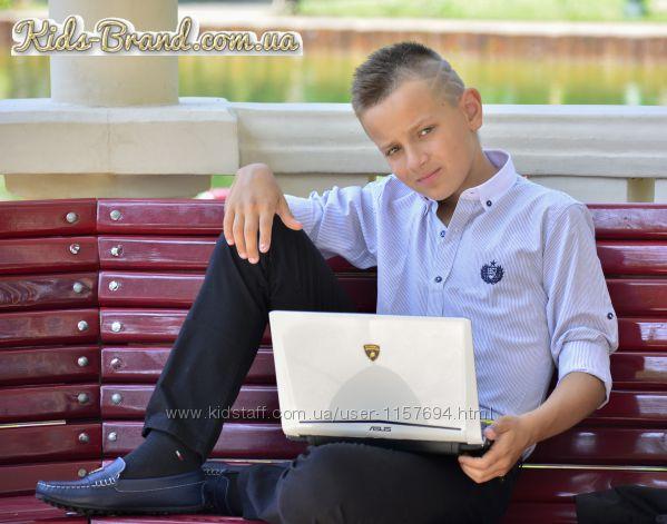 Рубашка Armani в полоску для школы на мальчика от 6 до 14 лет
