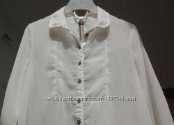 ONLY. Шифоновая блуза рубашка с удлинённой спинкой.