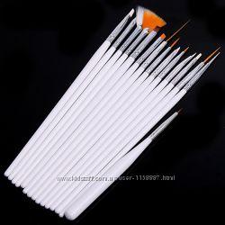 Кисточки Кисти для ногтей маникюра набор 15 шт.