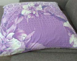 Новая подушка перьевая с наволочкой