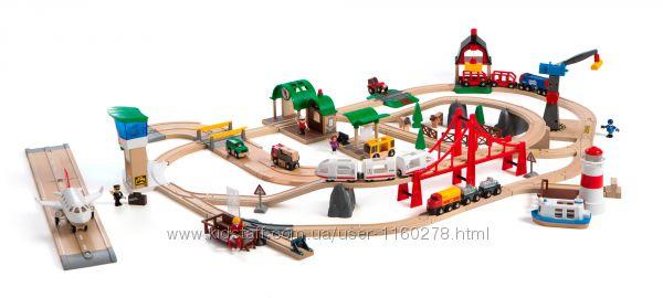 Деревянная железная дорога Brio 33766 Deluxe Set Люксовый набор