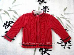 Супер свитер Gap на 6-12 мес на мальчика с меховым горлом