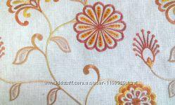 Портьерная ткань с вышивкой США