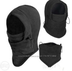 Балаклава, шапка зимняя, флисовая, на фиксаторах, бафф, шарф, снуд