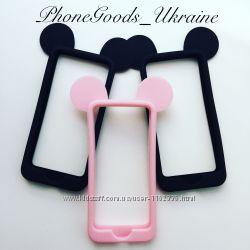 Бампер чехол Микки с ушками для Iphone5, 5S