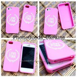 Шикарные силиконовые чехлы Pink для IPhone 5, 5S