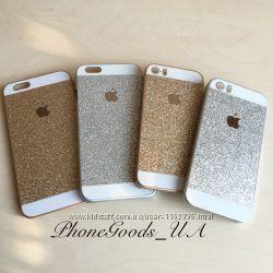 Блестящий чехол накладка на IPhone5, 5S, IPhone6, 6S, IPhone4, 4S