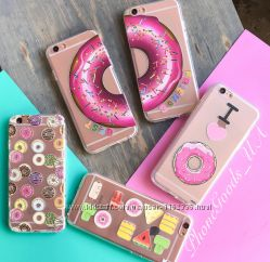 Яркие, красивые силиконовые чехлы на IPhone6, 6S с рисунками