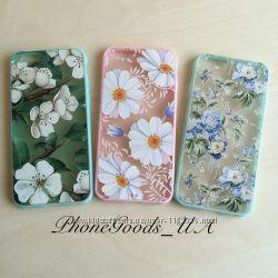 Шикарные чехлы с цветами на iPhone6, 6S, IPhone6plus, 6Splus
