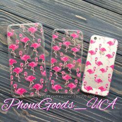Шикарные чехлы с фламинго для IPhone