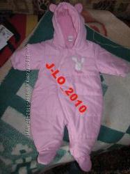 КОМБИНЕЗОН Детский розовый 0-6 месяцев