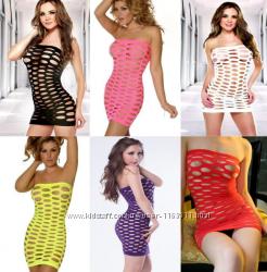 Эротическое платье-сетка боди  7 цветов