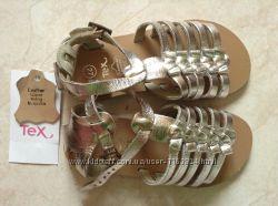 Новые кожаные золотые и серебряные босоножки Тех 27-30 ра