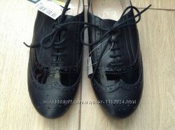 Цена снижена - Новые кожаные модные туфли оксфорды  Next 37 р-ра