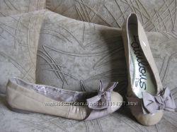 балетки бежевые лаковые Next, 23, 5см по стельке, идут на 36, 5 размер