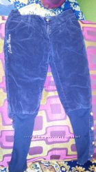 Вельветовые, теплые штаны