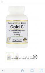California Gold Nutrition, Gold C, Витамин C, 1 000 мг, 60 вегетарианских к