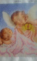 Вишита чеським бісером картина Ангел-хоронитель