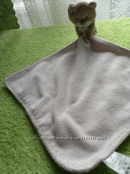 Игрушка мягкая мишка- платочек для сна, салфетка для кормления