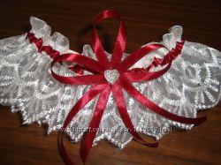 Свадебные аксессуары цвет марсала, бордо