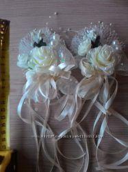 Бутоньерки в цвете айвори, молочный, беж