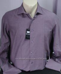 Рубашка приталенная с запонкамиразмерS