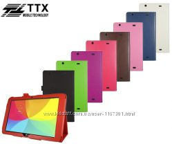 Кожаный чехол-книжка TTX с функцией подставки для LG G Pad 10. 1 V700