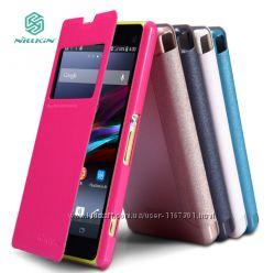 Кожаный чехол книжка Nillkin Sparkle Series для Sony Xperia Z1 Compact