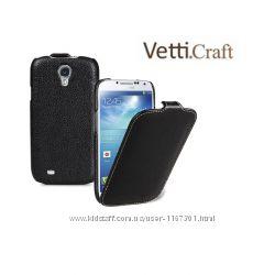 Кожаный чехол флип Vetti Craft для Samsung i9500 Galaxy S4