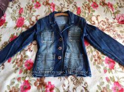 джинсовый пиджак на девушку