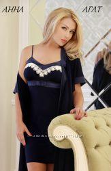 рубашка Анна, трикотаж , вискоза-95 , 5-еластан, р. европ. 34-44 и наш 40-5