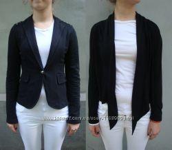 Черный приталенный пиджак и кардиган на девочку.