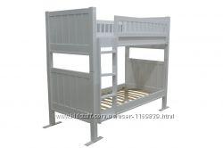 Кровать детская двухъярусная из натурального дерева. Цена от производителя.