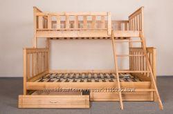 Двухъярусная деревянная детская кровать. Цена производителя.