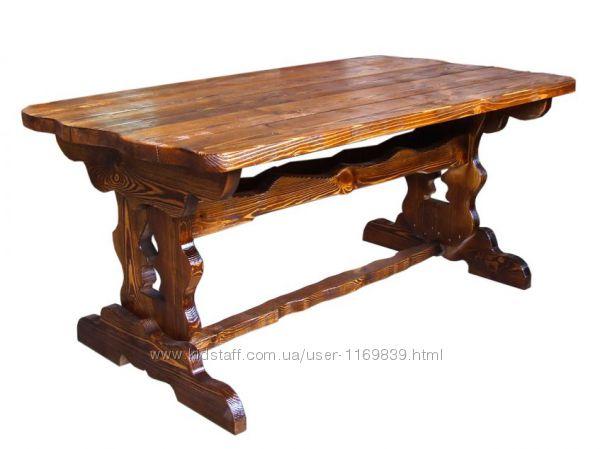 Стол деревянный, Стол Атлант